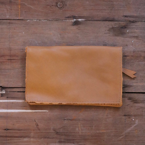 Caramel Fold Over Clutch