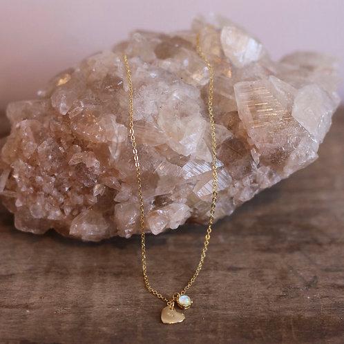 Opal Heart Necklace