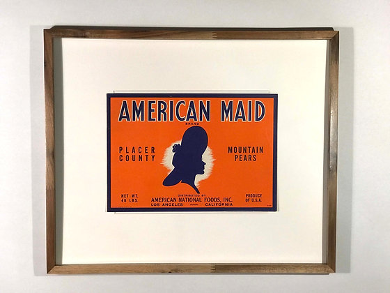 American Maid Crate Label