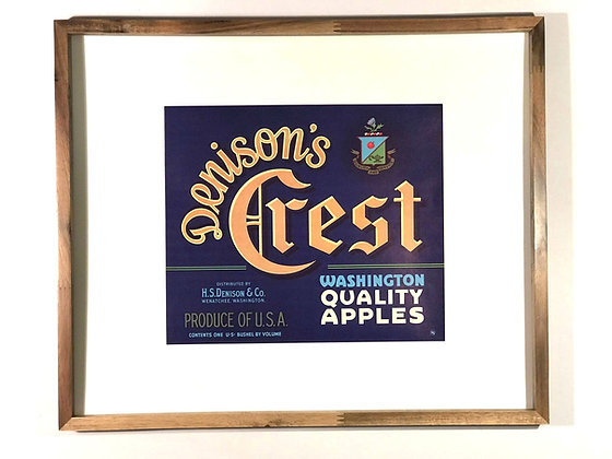 Denison's Crest Vintage Apple Crate Label