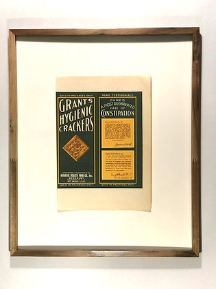 Grant's Hygenic Crackers Label