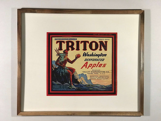 Triton Dehydrated Apple Crate Label