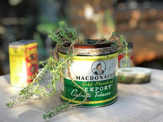 Vintage MacdonaldsGold Standard Export Cigarette Tobacco Tin