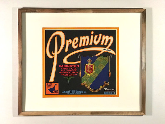 PremiumBrand Vintage Fruit Label