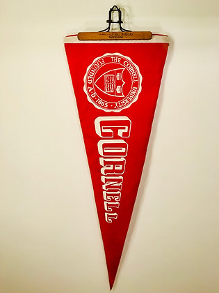 Vintage 1970's Cornell University Pennant