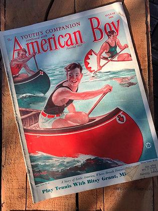 American Boy Magazine August 1936