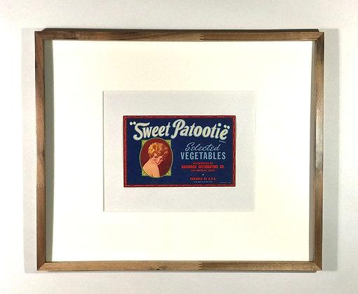 Sweet Patootie Vegetable Crate Label