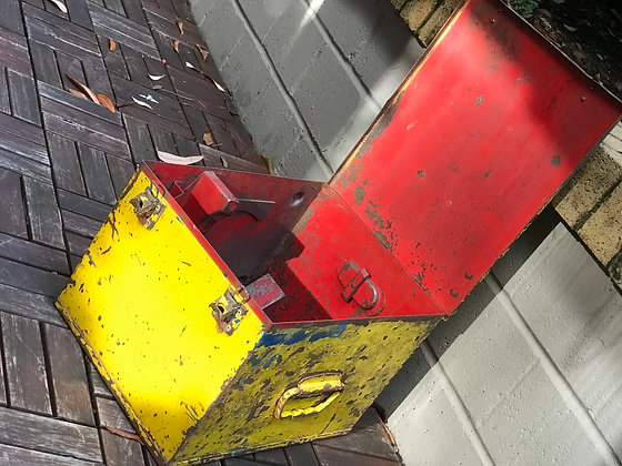 Industrial strongbox - Yellow and Red