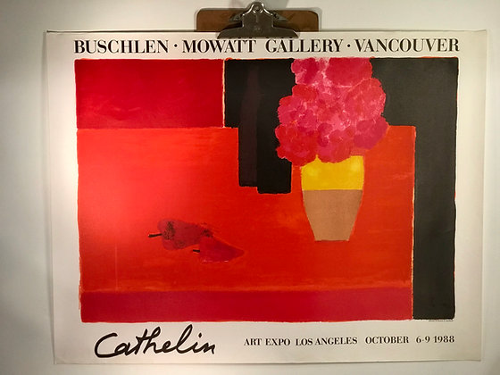 Cathelin Los Angeles Art exposition 1988 poster/print