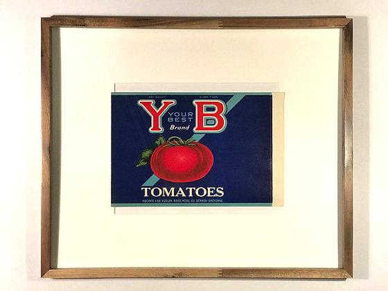 Y & B Tomatoes Vintage Crate label
