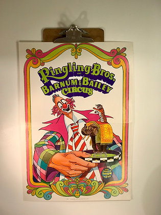 Ridling Bros and Barnum & Bailey Circus 1972 Poster