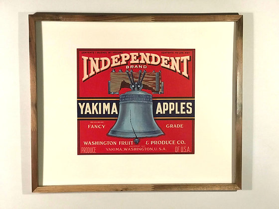 Idependent Brand Yakima Apples Crate label