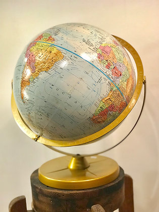 Double Axis gold globe
