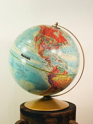 Vintage Maclean's World Globe