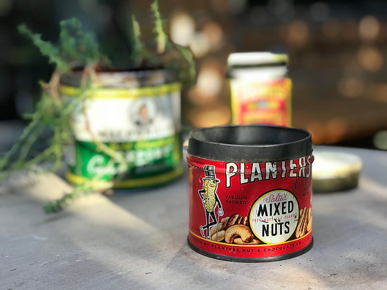 Vintage Planters Mixed Nuts Tin