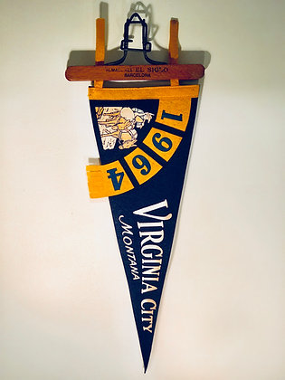 1964 Vintage Pennant banner: Virginia City Montana