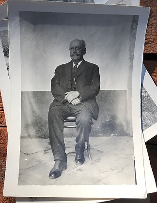 Seated Man 1900's Photograph
