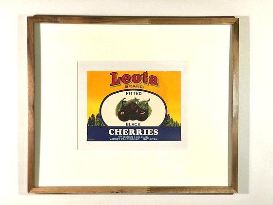 Leota Brand Cherries Vintage Fruit Crate Label