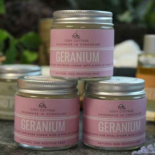 Uplifting Geranium Hand & Body Balm 30ml