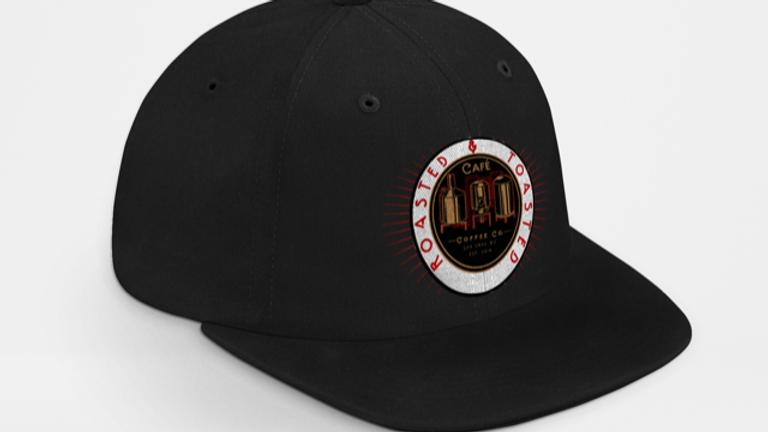Black Flat Bill Hat