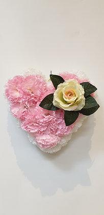 Coeur Rose / Blanc (CO043)