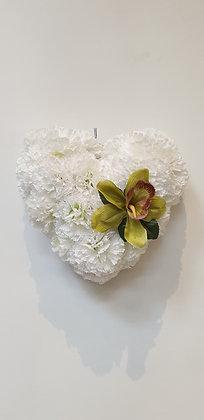 Coeur Blanc / Vert (CO040)