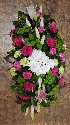 Coussin Rose / Blanc (CN16)