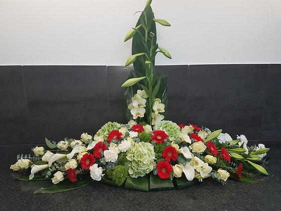 Pied de tombe Blanc/Rouge (CN301)