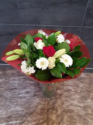 Bouquet Rouge/Blanc