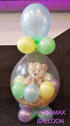 Ballon magique ours crème Ref  :  BM2042