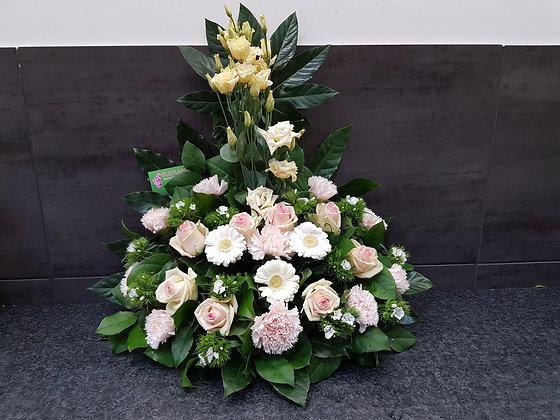 Pied de tombe Rose / Blanc (CN266)