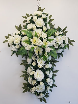 Croix de rose / blanc (CR001)