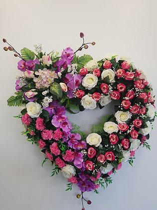 Cœur ouvert  Rose/Fuchsia (CO021)