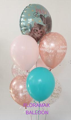 Grappe de ballons Amour     Ref :    SB1091