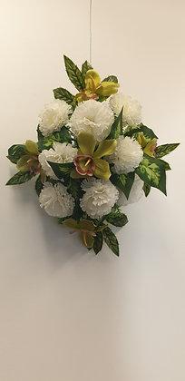 Coussin Blanc / Vert (BU061)
