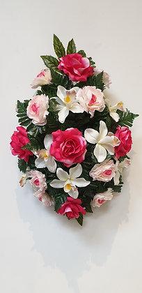Coussin Rose / Blanc (BU131)
