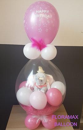 Ballon magique Dumbo gris clair