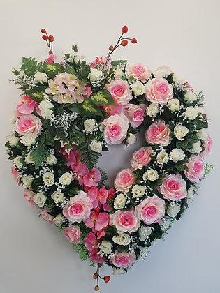 Cœur ouvert Rose/Blanc (CO020)