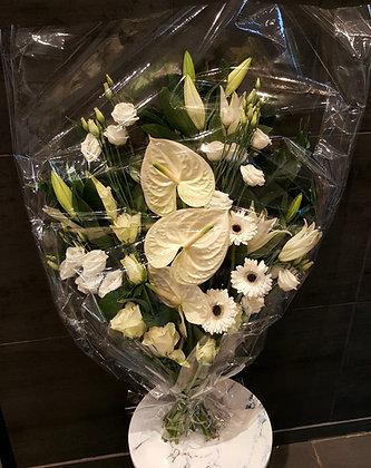 Bouquet plat Blanc (CN45)