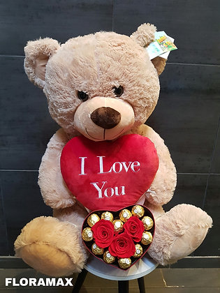 """Le nonours romantique """"I Love You"""""""
