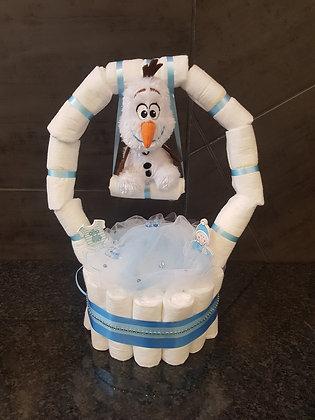 Gâteau de couches balançoire Olaf