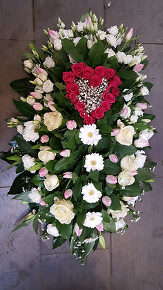 Coussin Rose / Blanc (CN22)