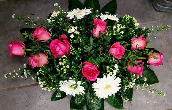 Coussin Rose / Blanc (CN18)