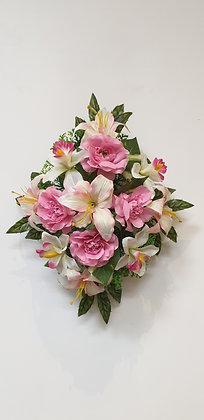 Coussin Rose / Blanc (BU114)
