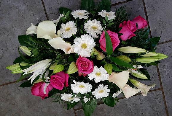 Coussin Rose / Blanc (CN25)