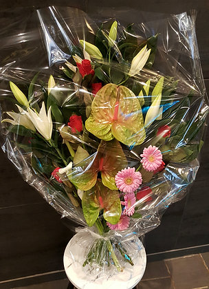 Bouquet plat Rose (CN47)
