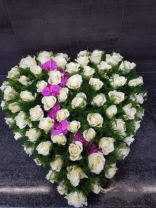Coeur Rose / Blanc (CO283)
