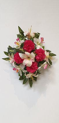 Coussin Fuchsia / Blanc (BU118)