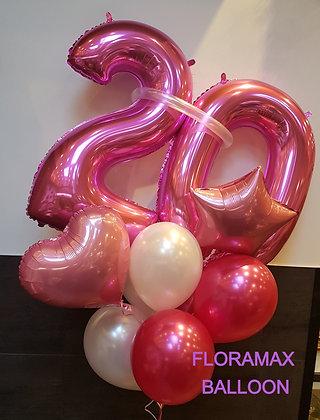 """Bouquet de ballons """"Girly"""" à l'hélium"""