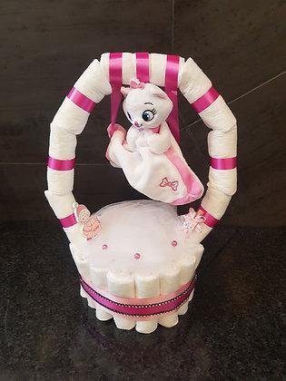 Gâteau de couches balançoire pour fille